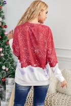 Crimson bleget sweatshirt