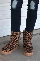 Sepatu Bot Salju Cetak Macan Tutul