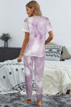 Tricou Purple Tie-dye Pantaloni Set PJ