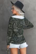 Zelená bunda s kapucí a zipem
