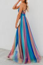 Платье макси в полоску Blue Sugar Plum