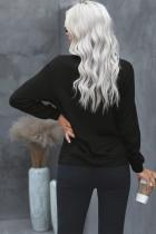 Sort Mama Life lynlås sweatshirt