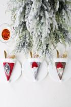 Gray Santa Gnome Tableware Bag