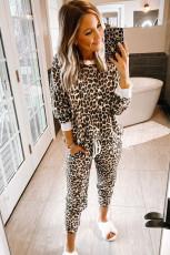 Set de îmbrăcăminte cu imprimeu leopard