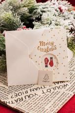 Klipp ut julekort med hanskemønster