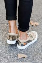 Sepatu Slip-on Canvas Slip on Khaki Snake Leopard Mixed Print