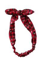 Svart rød rutete juletrykk Bowknot pannebånd