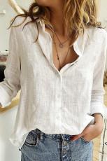 قميص أساسي بلون أبيض محكم