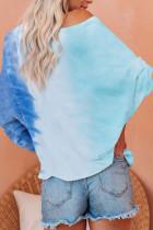 Свободный пуловер с длинными рукавами Tie Dye