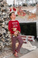 Комплект детской одежды для дома для отпуска с принтом SANTA'S little HELPER