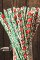 Red Christmas Print Drinking Straw