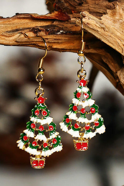 Christmas Tree Hook Earrings