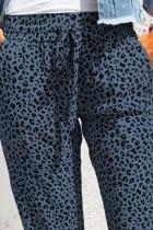 Blue Breezy Leopard Joggers