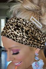 Boho Velvet Leopard hoofdband