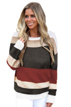 Suéter Red Crisscross V Back Hollow-Out Knit