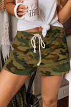 Grøn camouflage snor Casual shorts
