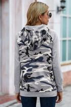 Moletom cinza camuflagem com capuz