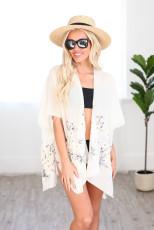 Bihara Spî Daisy Woven Kimono