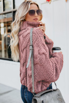 Cable Weather Cuddle Weather Knit Handmade Turtleneck Sweater