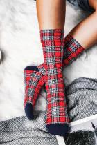 عيد الميلاد منقوشة الربط الشتاء الجوارب الدافئة
