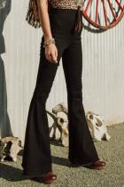 Sort Bell Bottom Jeans