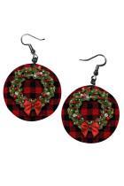 Christmas Wreath Plaid  Earrings
