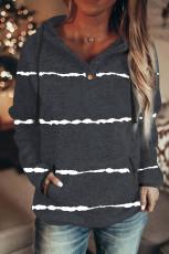 Musta Tie-dye Stripe Button -nauhahuppari