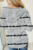 Harmaa Tie-dye Stripe Button -nauhahuppari