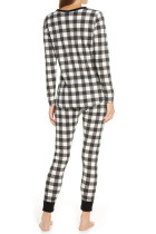 Black Plaid Loungewear