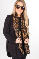Brun Leopard bomull skjerf