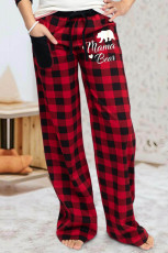 Red Plaid Lounge Pants