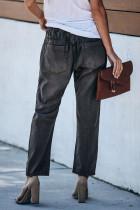 Mørkegrå joggebukse med lommer