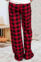 Rød Plaid Lounge Pants