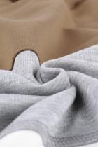 Khaki snøring Fargeblokk Stripe Casual hettegensere