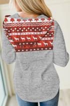 عيد الميلاد الرنة طباعة هوديي خياطة
