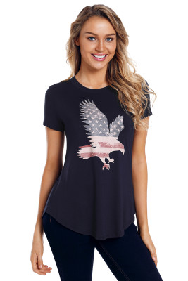 America Flag Eagle Navy Daily T-shirt