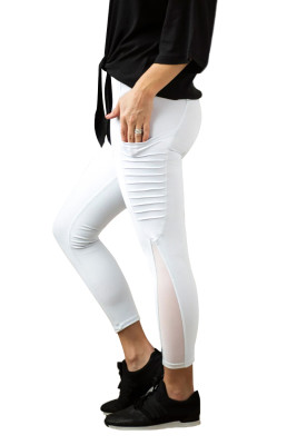 White Moto Pocketed Leggings