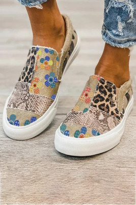 Animal Floral Print Splicing Cloth Shoes Sneakers