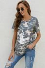 RECKLESS Guitar Romance 1992 Graphic Camo T-shirt