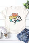 Lucky Retro Rainbow Clover Graphic Tee