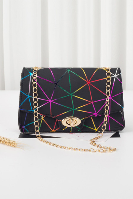 Multicolor Fashion Diamond Plaid Chain Crossbody Bag