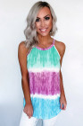 Colorblock Tie Dye Print Tank Top