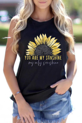 Tournesol You Are My Sunshine Tank En Noir