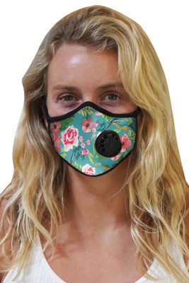 Green Printed Activated Carbon Mask with Exhale Valve