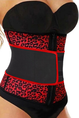 Red Neoprene Leopard Waist Cincher