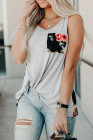 Floral & Stripe Tank Top