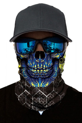 Blue Skull Head Scarf Face Bandana Neck Gaiter