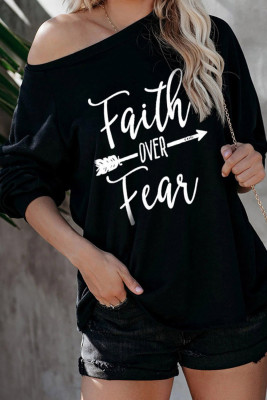 Chemise Faith OVER Fear Black