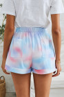 Multicolor Print Drawstring Casual Elastic Waist Pocketed Shorts