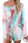 Ensemble pyjama multicolore Tie-dye Loungewear